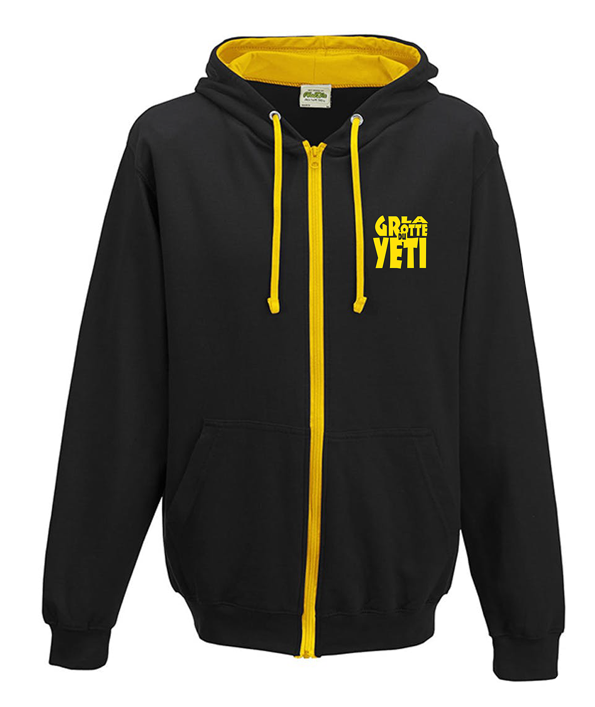 Sweat Noir:jaune
