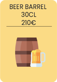 Beer barrel 30cl