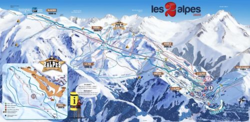 LES 2 ALPES MAP